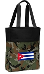 Cuban Flag Tote Bag Everyday Carryall Camo