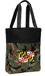 Maryland Tote Bag Everyday Carryall Camo