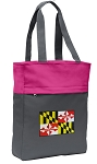 Maryland Tote Bag Everyday Carryall Pink