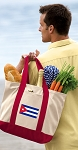 Cuba Tote Bag or Canvas Grocery Bag