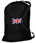 England British Flag Laundry Bag Black