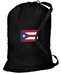 Puerto Rico Flag Laundry Bag Black