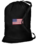 American Flag Laundry Bag Black