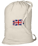 England British Flag Laundry Bag White