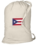 Puerto Rico Flag Laundry Bag White