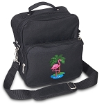 Flamingo Small Utility Messenger Bag or Travel Bag