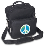 Peace Sign Small Utility Messenger Bag or Travel Bag