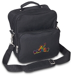Peace Frogs Small Utility Messenger Bag or Travel Bag