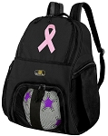 Pink Ribbon Soccer Backpack or Pink Ribbon Volleyball Bag for Boys or Girls