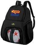 Arizona Flag Soccer Backpack or Arizona Volleyball Bag for Boys or Girls