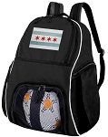 Chicago Soccer Backpack or Chicago Flag Volleyball Bag for Boys or Girls