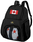 Canada Flag Soccer Backpack or Canada Volleyball Bag for Boys or Girls