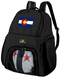 Colorado Flag Soccer Backpack or Colorado Volleyball Bag for Boys or Girls