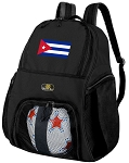 Cuba Soccer Backpack or Cuban Flag Volleyball Bag for Boys or Girls