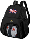 England British Flag Soccer Backpack or United Kingdom Volleyball Bag for Boys or Girls