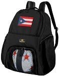 Puerto Rico Flag Soccer Backpack or Puerto Rico Volleyball Bag for Boys or Girls