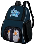 Sea Turtle Soccer Ball Backpack or Turtle Volleyball Practice Gear Bag Navy