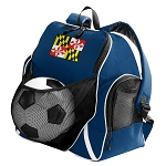 Maryland Soccer Ball Backpack