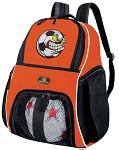 Soccer Fan Soccer Ball Backpack Bag Orange