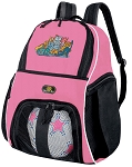 Girls Cats Soccer Backpack or Cat Volleyball Bag