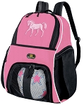 Girls Horse Soccer Backpack or Horse Theme Volleyball Bag