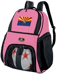 Girls Arizona Flag Soccer Backpack or Arizona Volleyball Bag