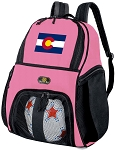 Girls Colorado Flag Soccer Backpack or Colorado Volleyball Bag