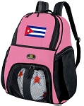 Girls Cuba Soccer Backpack or Cuban Flag Volleyball Bag