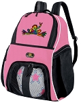 Girls Peace Frogs Soccer Backpack or Peace Frog Volleyball Bag