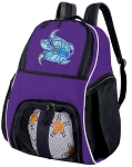 Turtle Soccer Backpack or Sea Turtle Volleyball Practice Bag Purple