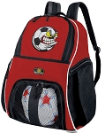 Soccer Fan Soccer Ball Backpack Bag Red