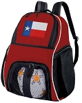 Texas Flag Soccer Backpack or Texas Volleyball Practice Bag Red Boys or Girls