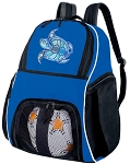 Sea Turtle Soccer Backpack or Turtle Volleyball Practice Bag Boys or Girls Blue
