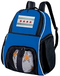 Chicago Soccer Backpack or Chicago Flag Volleyball Practice Bag Boys or Girls Blue