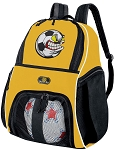 Soccer Fan Soccer Ball Backpack Bag Yellow