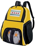Chicago Soccer Ball Backpack or Chicago Flag Volleyball For Girls or Boys Practice