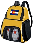 Colorado Flag Soccer Ball Backpack or Colorado Volleyball For Girls or Boys Practice