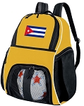 Cuba Soccer Ball Backpack or Cuban Flag Volleyball For Girls or Boys Practice