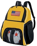 American Flag Soccer Ball Backpack or USA Flag Volleyball For Girls or Boys Practice