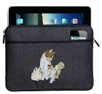 Cute Cats Ipad Sleeve Blue