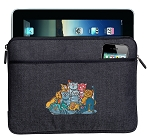Crazy Cat Ipad Sleeve Blue