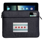 Chicago Flag Ipad Sleeve Blue