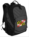 Maryland Deluxe Laptop Backpack Black