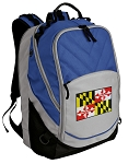 Maryland Deluxe Laptop Backpack Blue