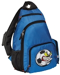 Soccer Fan Sling Backpack Blue