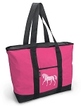 Cute Pink Horse Tote Bag