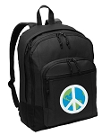 Peace Sign Backpack - Classic Style