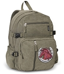 Horse Canvas Backpack Olive