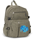 DOLPHIN Canvas Backpack Olive