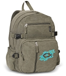Christian Canvas Backpack Olive
